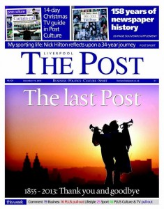 Raise a glass to the Liverpool Post, as a wonderful paper says farewell