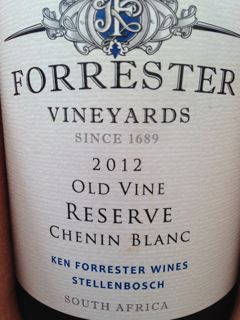 Forrester Vineyards 2012 Old Vine Reserve Chenin Blanc